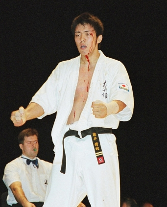 Fuji Yusuke at Kyokushin-kan's 1st World Tournament in Moscow.